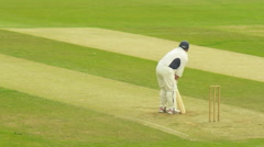 Cricket match at High Wycombe cricket club. -X - stock footage