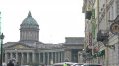 Hermitage Museum in Petersburg Stock Footage