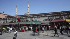 STALLS AT THE SPICE BAZAAR EMINONU ISTANBUL TURKEY Stock Footage