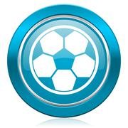 Soccer blue icon football sign. Piirros