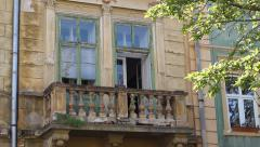 Old Baroque Balcony Stock Footage