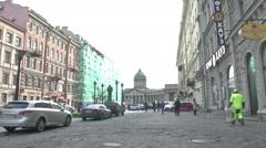 The State Hermitage Museum in Petersburg Stock Footage