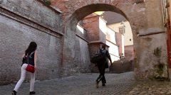 Old Medieval Stairs Passage Stock Footage