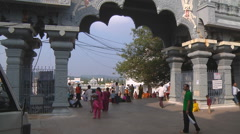 Gates to the market at Tirupati in Andhra Pradesh, India Stock Footage