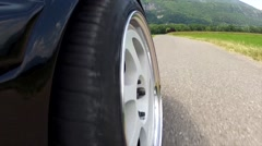 Car Tire Moving Drive.mp4 Stock Footage