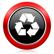 Recycle icon recycling sign. Piirros