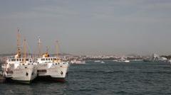 PASSENGER FERRY ISTANBUL TURKEY Stock Footage