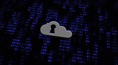 Cloud Computing Concept Keyhole Digital Wall Stock Footage