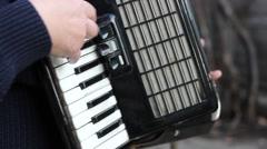 Piano Accordion Musician - stock footage