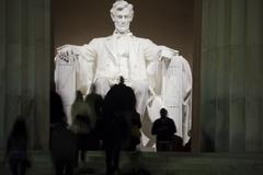 Lincoln Memorial in Washington DC USA - stock photo