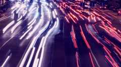 TIMELAPSE: Night traffic madness - stock footage
