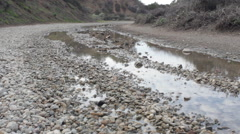 Wet Gravel Road - stock footage