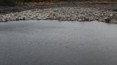 Water under the lower downstream hydroelectric - stock footage