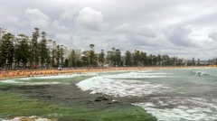 Manly Beach in 4k Stock Footage