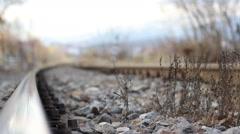 Running Focus on Railway Stock Footage