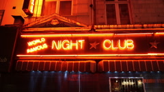 Neon sign Night Club Table Dancing - stock footage
