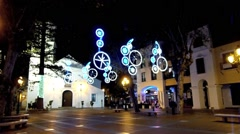 Nerja Christmas and New Year Lights 1 Stock Footage