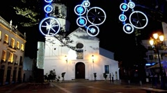 Nerja Christmas and New Year Lights 3 - stock footage