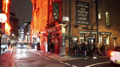 Typical  English Pub The Lyric in London west-end - stock footage