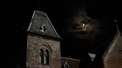 Spooky House at Night Stock Footage