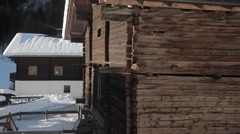 Wooden home in Austria Alps Stock Footage
