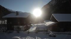 Village in Alps Austria Stock Footage