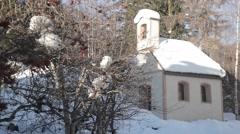 Alpine church in Austria Alps Stock Footage