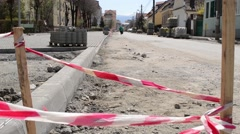Street Construction Site Pending Stock Footage
