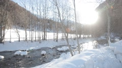 River in winter Stock Footage