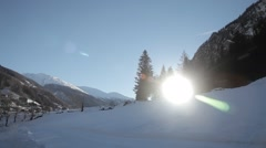 Sunny winter day Stock Footage