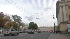 Petersburg Streets of Russia Stock Footage