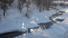 Sunny day with river Stock Footage