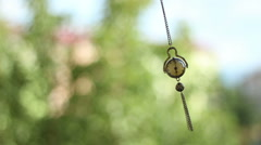 Swinging Hypnotic Clock Pendulum - stock footage