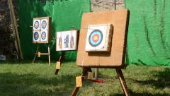Targets for Arrows Stock Footage