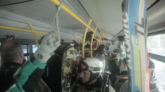 Skibus ride Stock Footage