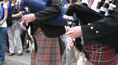 Traditional Scottish Bagpipes Singing Stock Footage