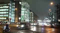 London street corner in East End by night Stock Footage