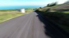 Fast Driving onto Curved Mountain Road Stock Footage