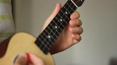 Ukulele Musical Instrument Stock Footage