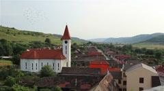 Village Church View Stock Footage