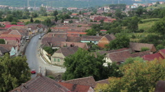 Village Houses Heights View Stock Footage