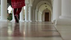 White Piling Corridor Stock Footage