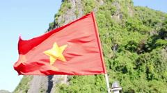 Vietnam Flag Nature Stock Footage