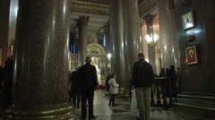 Petersburg Inside The Church Stock Footage