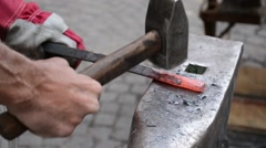 Wrought Iron Craftsman Work Stock Footage