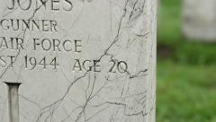 WWII Tombstones Stock Footage