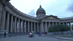 Front Side Hermitage Museum Stock Footage