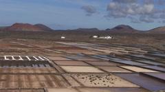 Spain - Lanzarote - Salinas de Janubio Stock Footage