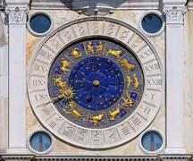 san marco astrology clock - stock photo