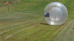 Rotorua Zorb Zorb Globe Riding Zorbing New Zealand 01 Stock Footage